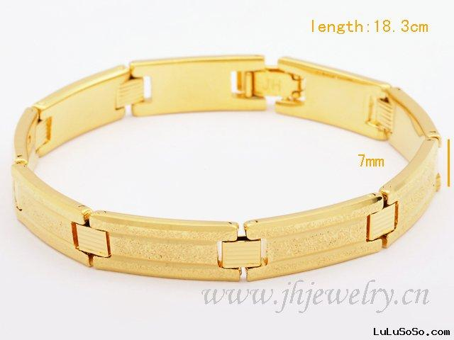 18K Gold Plated Dull Polish Cheap Bracelet 50040121