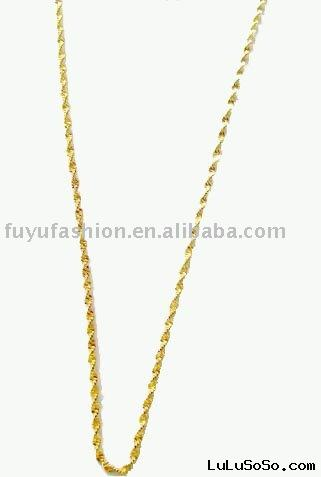2011  yellow 18k Gold plated  Necklace