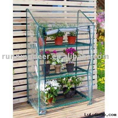 3tiers of mini greenhouse structure