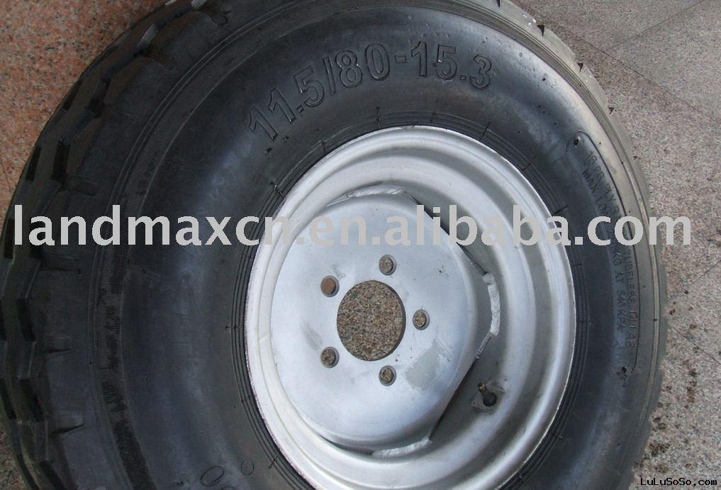Agriculture tire assembled with rim