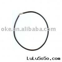 Black Leather Cord Necklace