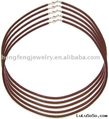Brown leather cord findings