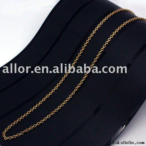 Chains with gold plating