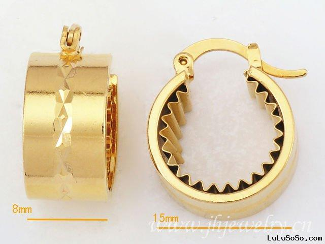 Circle Crease Gold Fashion Earring Costume Jewelry 20011353
