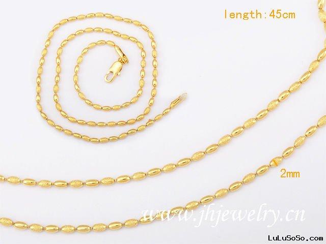 Dull Polish Gold Plated Necklace Fashion Chain 40020526