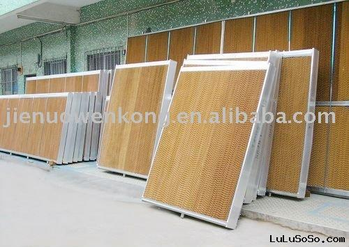 Evaporative greenhouse air cooling system/equipment