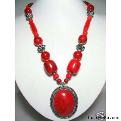 Fashion Red Coral Necklace