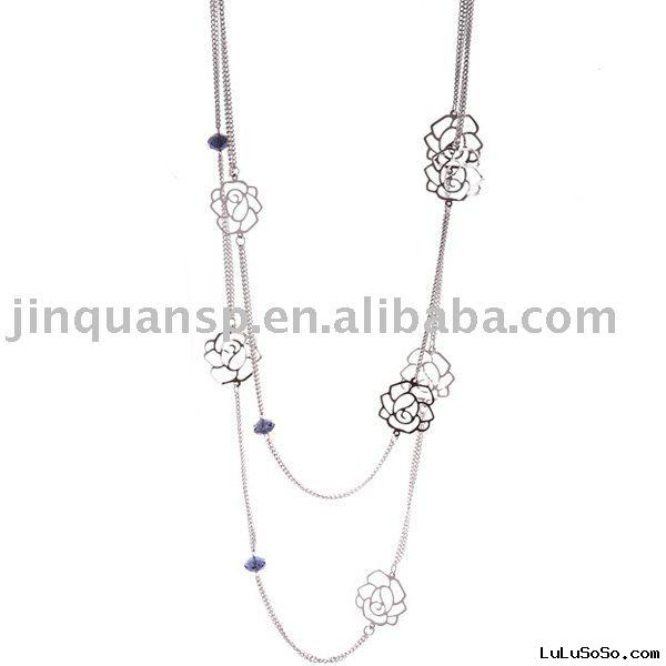 Fashion Rose Crystal necklace