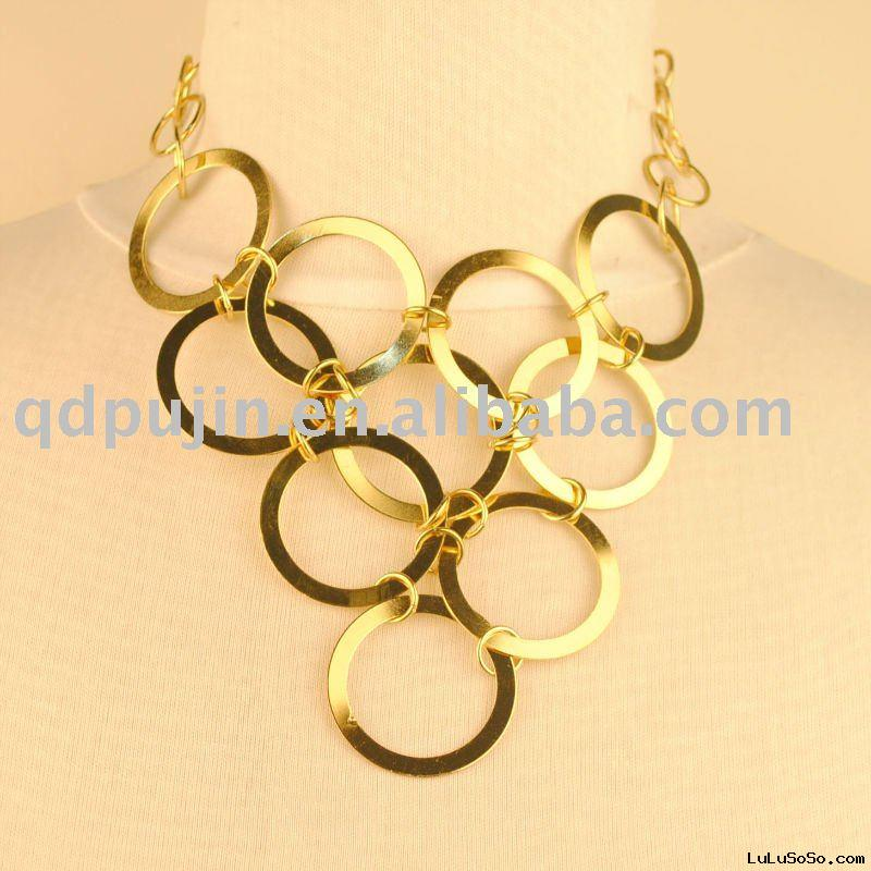 Fashion golden circle necklace
