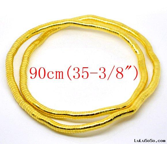 Gold Plated Bendy Flexible Snake Chain Necklaces 8mm thick 90cm