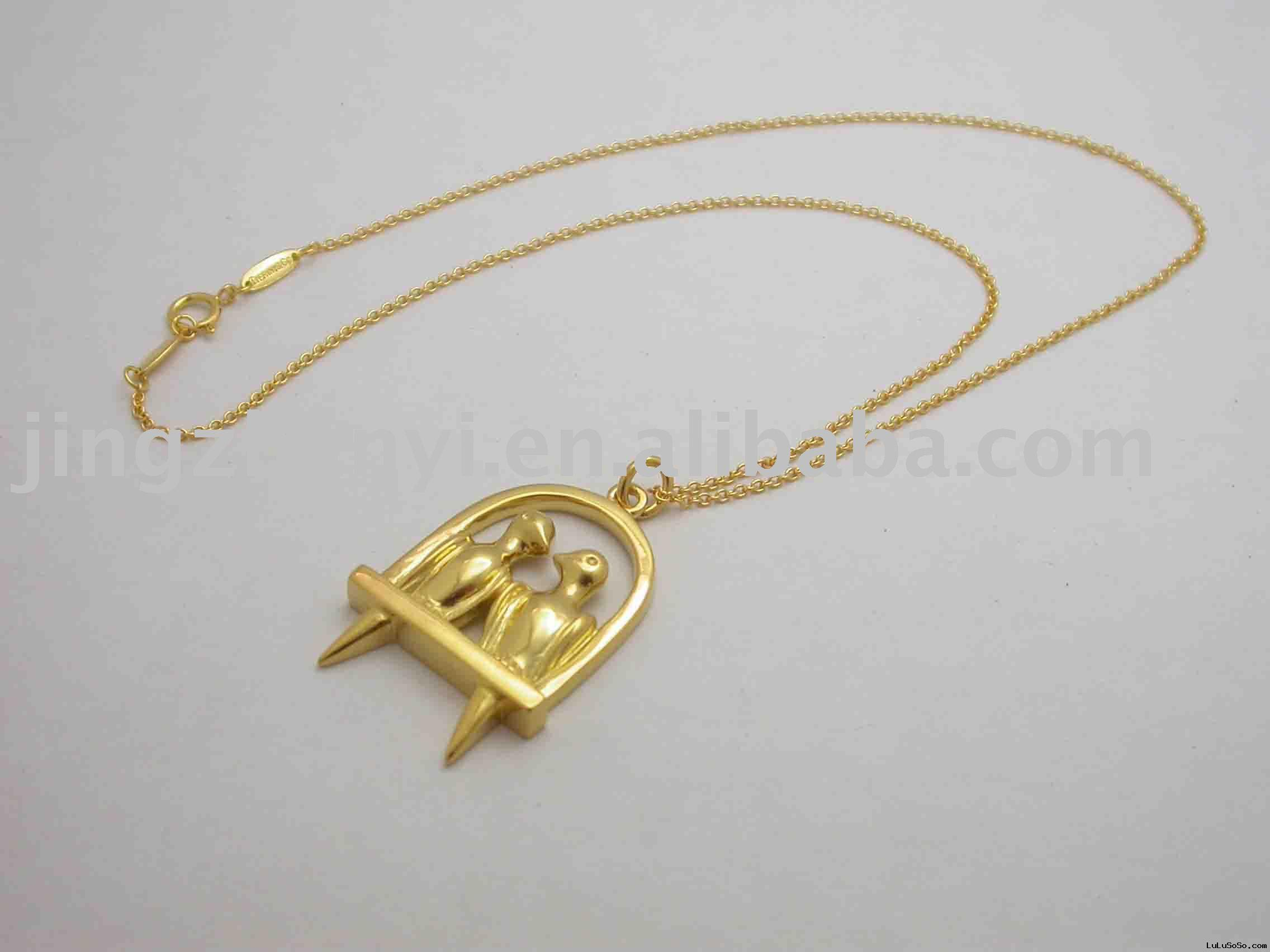 Gold couples Necklace