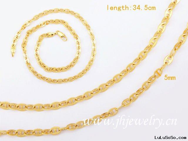 JH Wholesale Gold Plated Necklace Imitation Jewelry 40030454