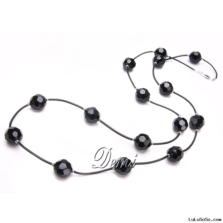 Leather&Freshwater Pearl Necklace