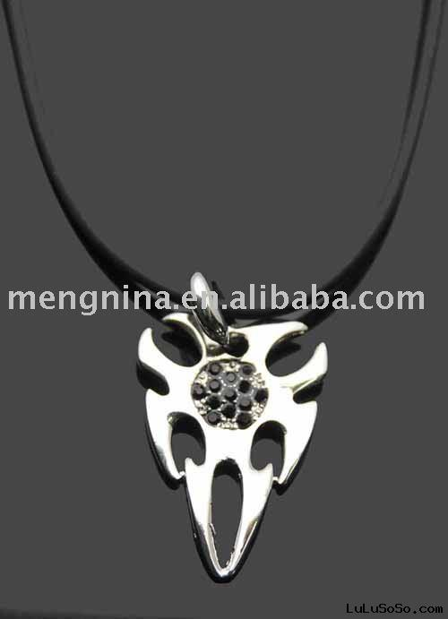 Leather necklace-N00061-1