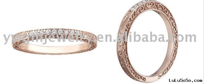 Rose Gold Delicate Antique Scroll ring