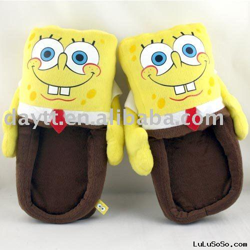 SpongeBob plush indoor slippers D302 on sale wholesale & drop shipping