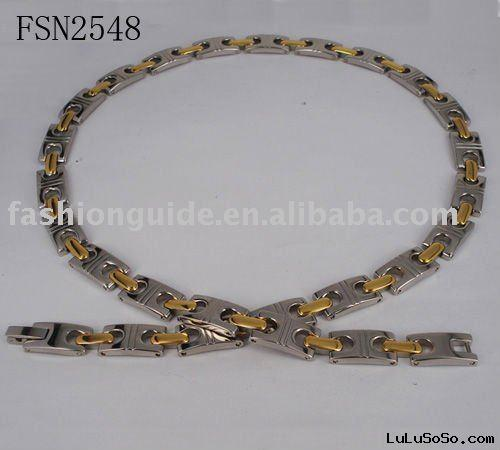 Stainless steel gold necklace