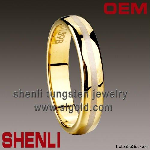 Tungsten plating gold ring