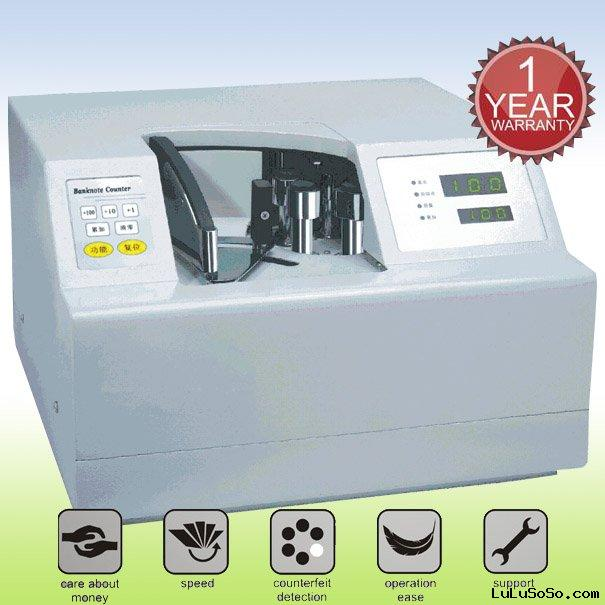 Vacuum currency counter machine