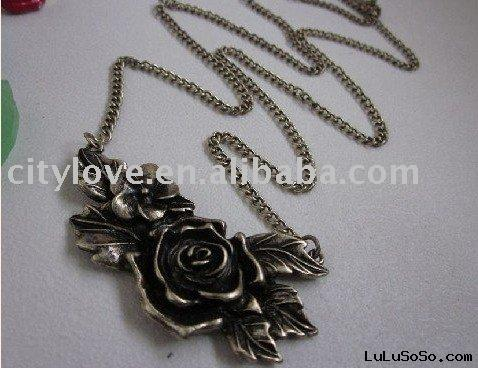 Valentine's rose necklace