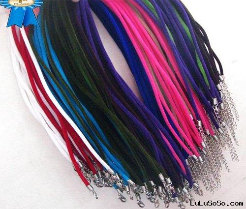 Wholesale 100pcs Mix Color Suede leather Necklace Cord