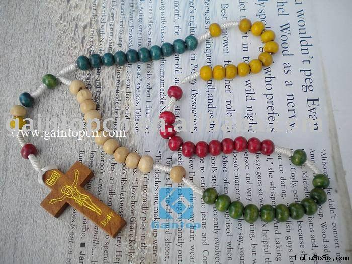 Wooden finger rosary