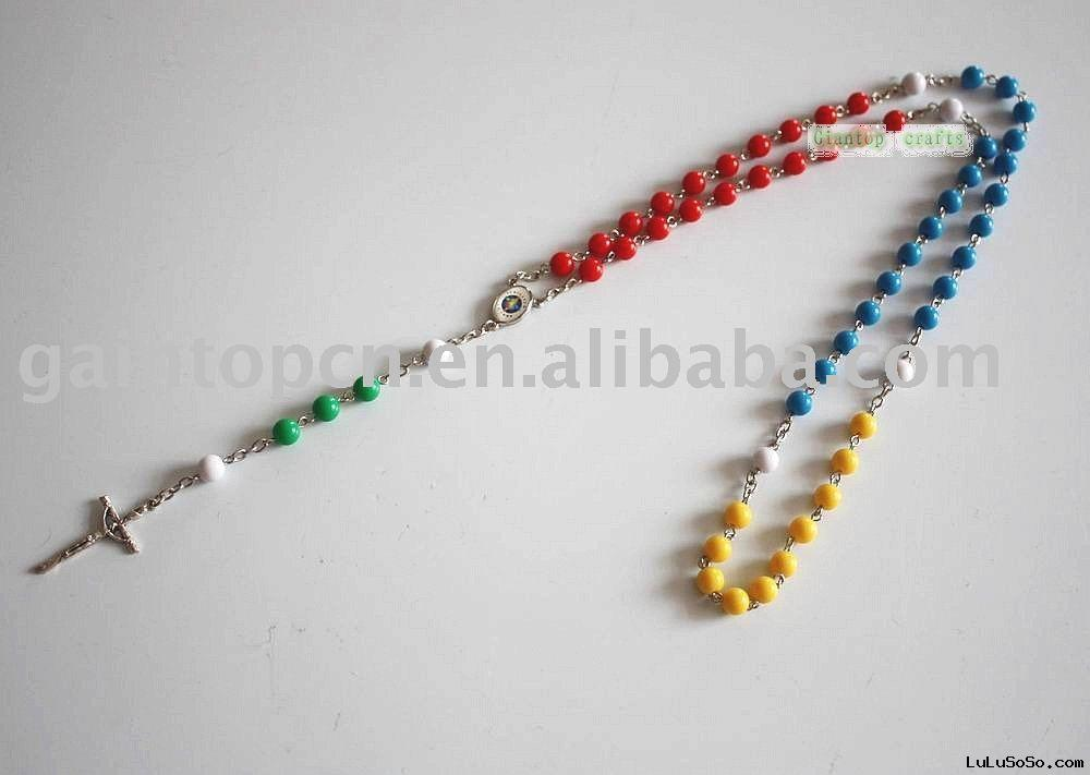Wooden rosary necklaces