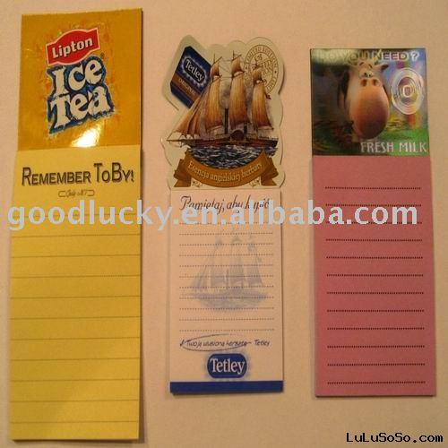(hot sale)fridge magnet memo pad
