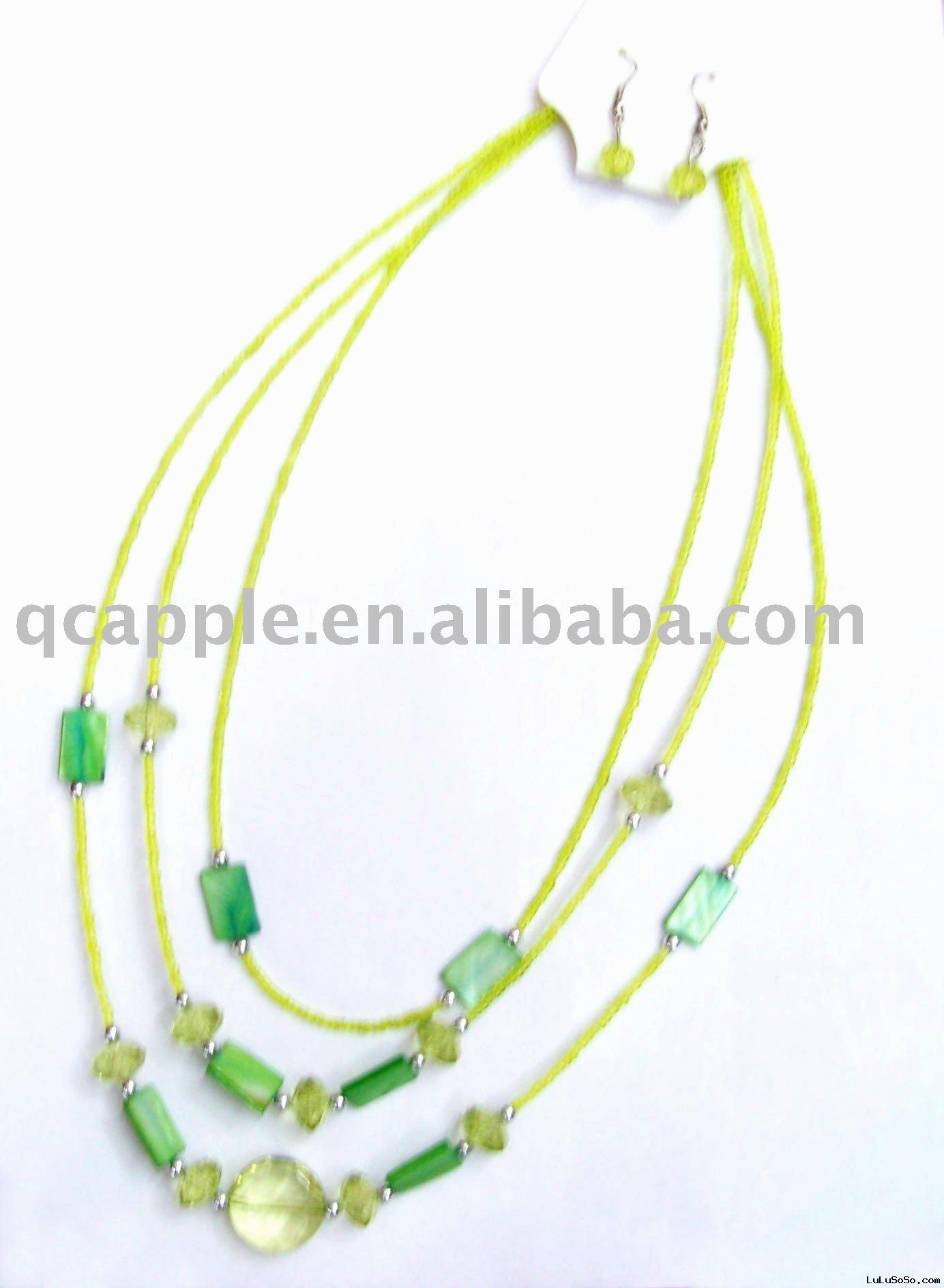 colourful pearl  necklaces