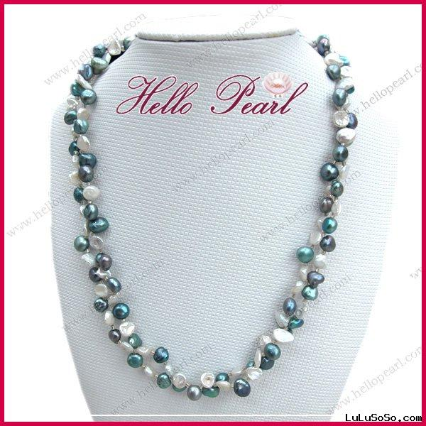 fancy shell pearl necklace