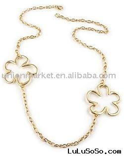 fashion Gold Flower Necklace