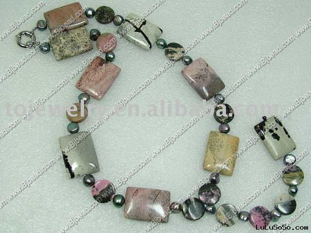 fashion gemstone necklace