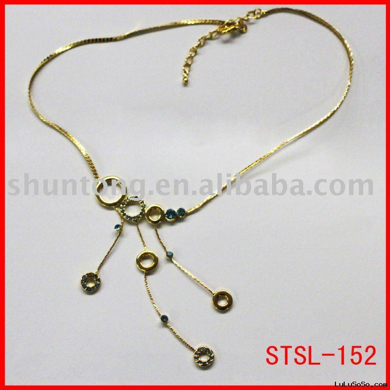 fashion plating gold necklaces