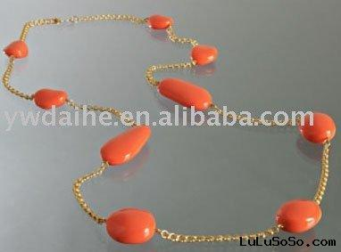 fashion red necklace  jewelry