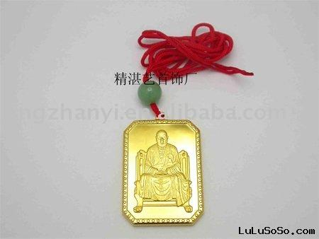 gold religious necklace