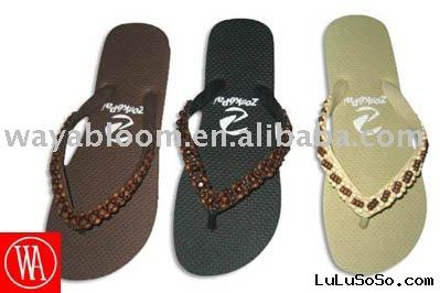 ladies beaded flip flops