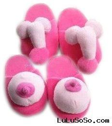 lady's boys plush stuffed slippers indoor slippers