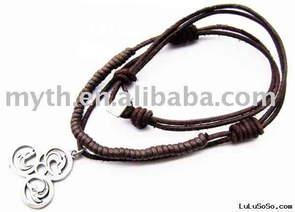 leather cord necklace  XDL-0076
