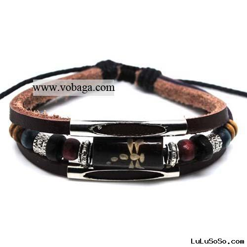 leather jewelry cheap charm bracelets handmade jewelry newest design
