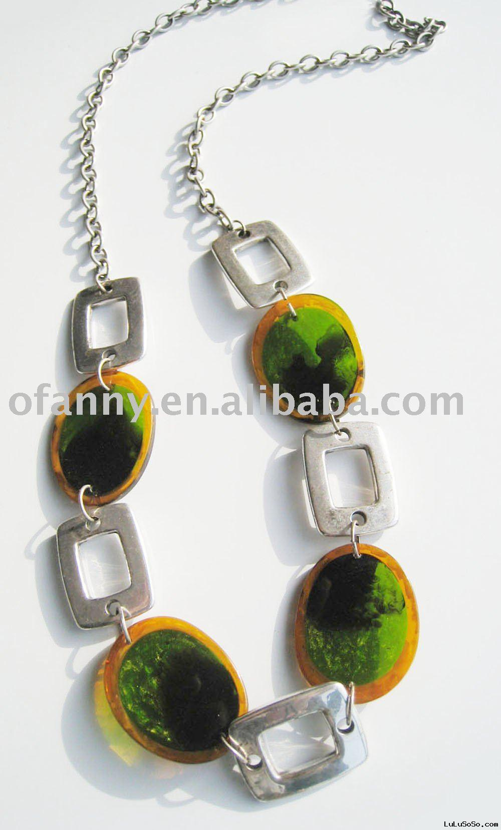 long resin necklace