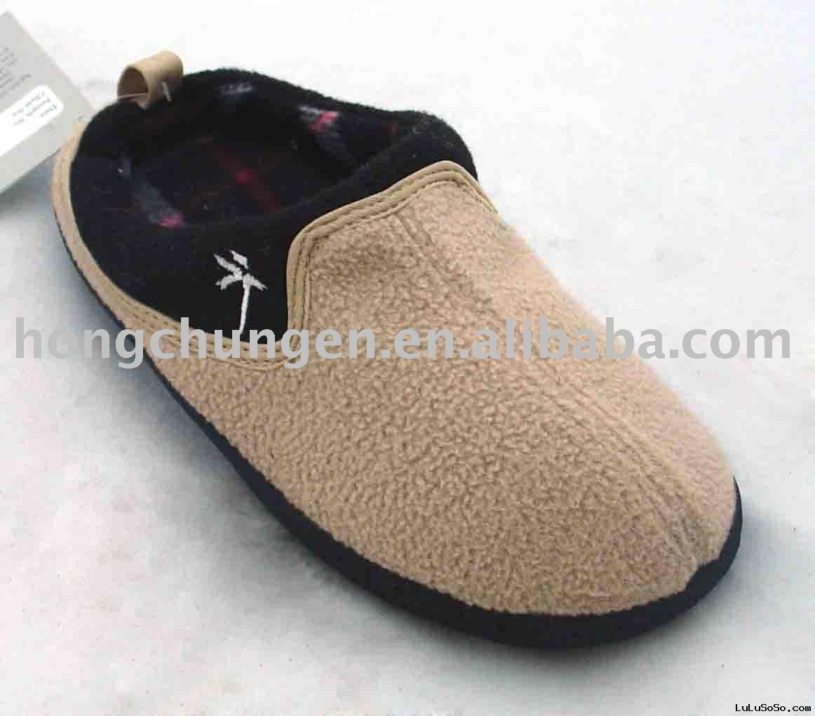 men's polar fleece slipper