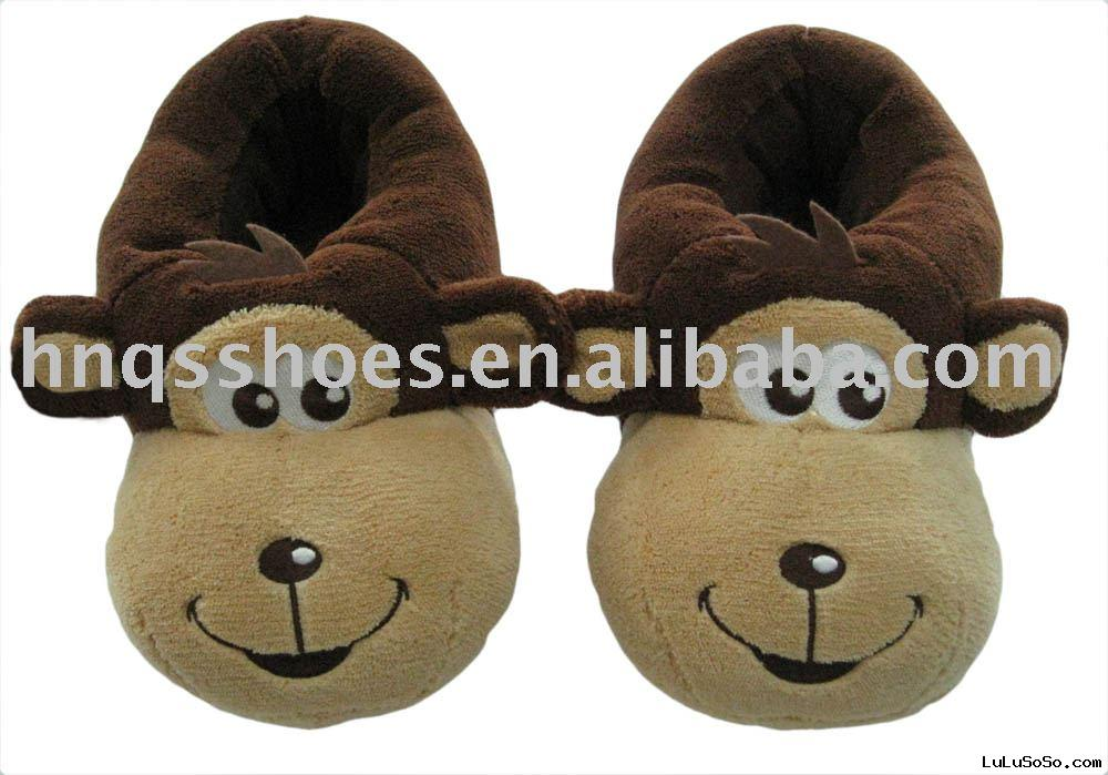 plush animal slipper
