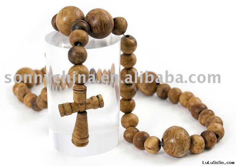 rosary wooden necklace