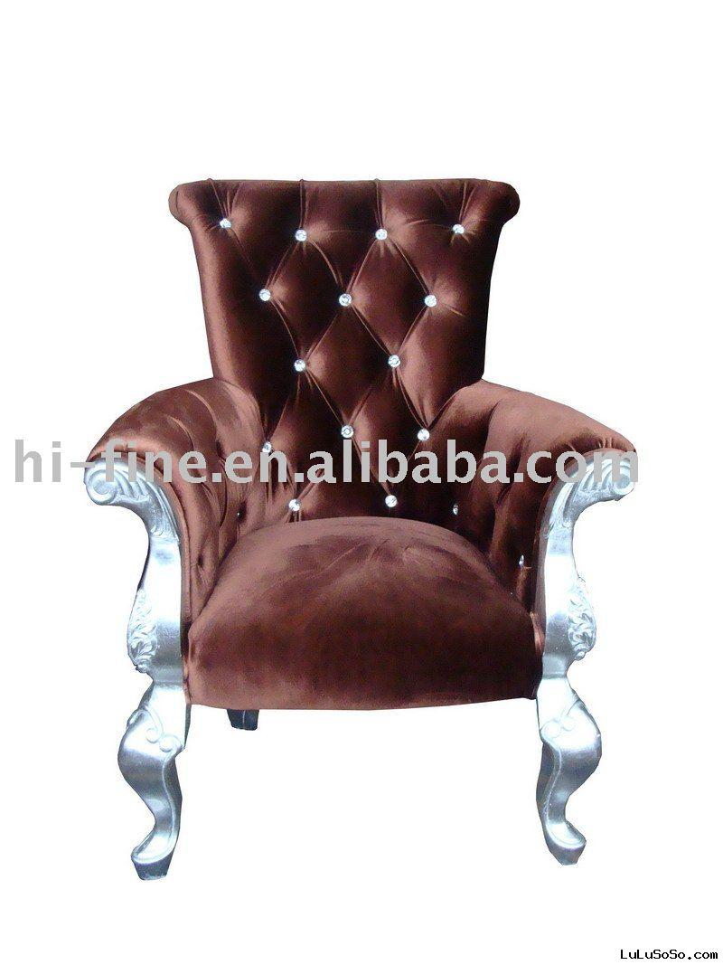 silver wooden chair