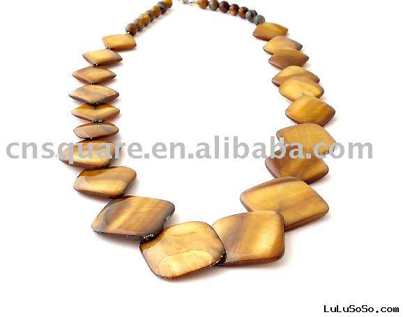 tiger eye beads necklace