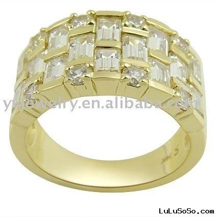 wholesale jewelry 14K gold with diamond ring,gemstone jewelry