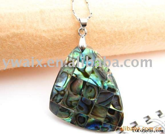 wholesale natural abalone/paua shell pendant necklace