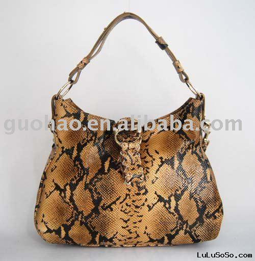 2010 New Snakeskin Leather Handbags, Name Brand Handbags, Ladies' Designer Handbags Purses