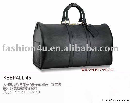 2011 Large Fashion Leather Duffel Bags Black