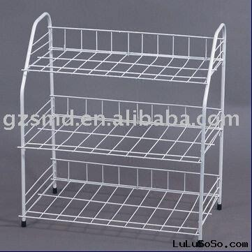 3- tier Iron Wire Shoe Rack with Powder Coated